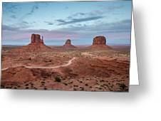 Sunset At Monument Valley No.1 Greeting Card