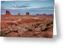 Sunset At Monument Valley No.2 Greeting Card