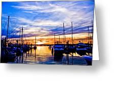 Sunset At Newport Greeting Card
