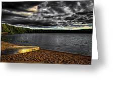 Sunset At Nicks Lake Greeting Card