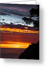 Sunset At Oswald West Greeting Card
