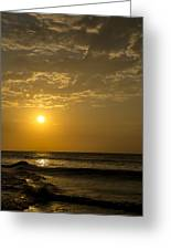 Sunset At Pacasmayo Beach 2 Greeting Card