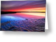 Sunset At Paines Creek Cape Cod Greeting Card