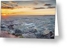 Sunset At Painted Desert Greeting Card