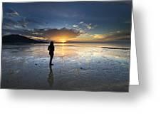Sunset At Phuket Island Greeting Card