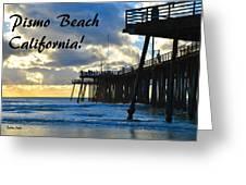 Sunset At Pismo Beach California Greeting Card