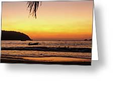 Sunset At Playa La Ropa Greeting Card