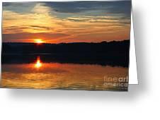 Sunset At Princess Point Greeting Card