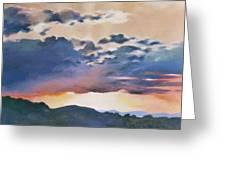Sunset At Quialigo Greeting Card