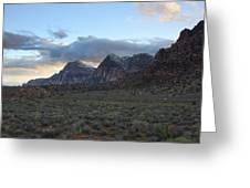 Sunset At Red Rock Canyon Greeting Card