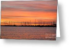 Sunset At Rock Hall, Md Greeting Card