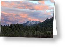Sunset At Rocky Mountain Park.co Greeting Card by James Steele