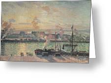 Sunset At Rouen Greeting Card