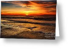 Sunset At Saint Petersburg Beach Greeting Card