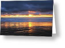 Sunset At Salt Creek Greeting Card