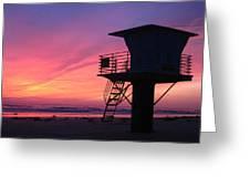 Sunset At San Elijo Greeting Card