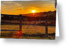 Sunset At Scartaglen Ireland Greeting Card