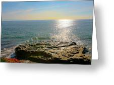 Sunset At Sea Santa Cruz Ca Greeting Card