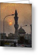 Sunset At Seeb Greeting Card