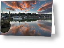 Sunset At Sellwood Riverfront Park Greeting Card
