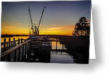 Sunset At Skippers Fish Camp Greeting Card
