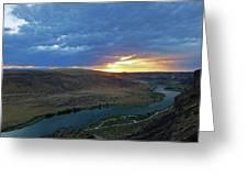 Sunset At Snake River Canyon 1 Greeting Card