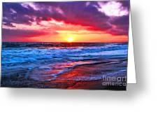 Sunset At Strands Beach Greeting Card