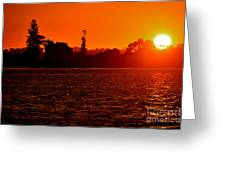 Sunset At Swan River II Greeting Card