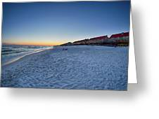 Sunset At The Beach In Florida Greeting Card