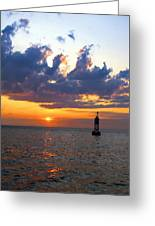 Sunset At The Bell Buoy Greeting Card