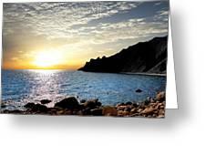 Sunset At The Black Sea Coast. Crimea Greeting Card