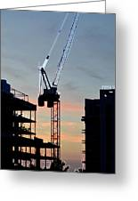 Sunset At The Construction Site 3  Greeting Card