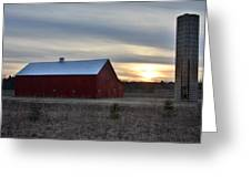Sunset At The Farm Greeting Card