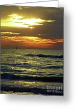 Sunset At The Gulf Greeting Card