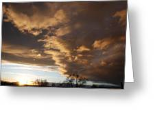 Sunset At The New Mexico State Capital Greeting Card