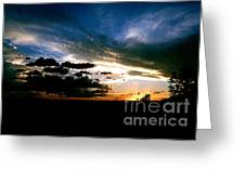 Sunset At The North Rim Greeting Card