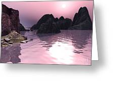 Sunset At The Ocean Greeting Card