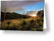 Sunset At The Old Divide Greeting Card