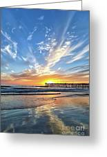 Sunset At The Pismo Beach Pier Greeting Card