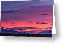 Sunset At The Ranch #2 - Patagonia Greeting Card