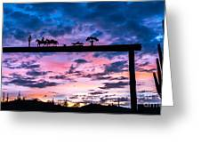 Sunset At The Ranch Greeting Card