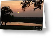 Sunset At The Southern Star Ranch Greeting Card