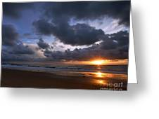 Sunset At The Strand Greeting Card