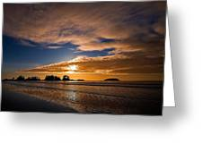 Sunset At Tofino Greeting Card