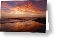 Sunset At Venice Beach Greeting Card