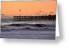 Sunset At Ventura Pier Greeting Card