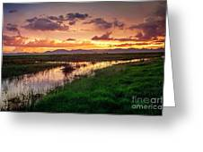 Sunset At Whitewater Draw Greeting Card