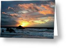Sunset Bandon By The Sea Greeting Card