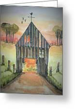 Sunset Barn  Greeting Card