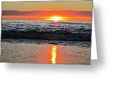 Sunset Beach Greeting Card by Douglas Barnard